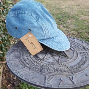 Vintage J.Crew blue jean hat 7 1/4- 7 3/8